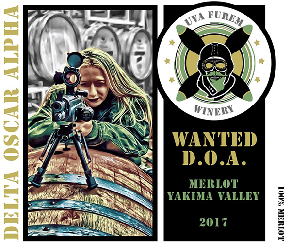 "Product Image for 2017 ""Wanted (D.O.A.) Merlot"